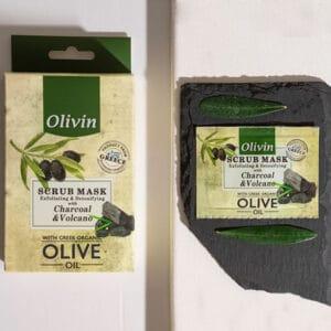 Olivin Απολεπιστική Μάσκα με λάβα και άνθρακα